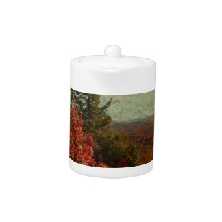 Vintage Inspired Adirondack Mountains Fall Color Teapot