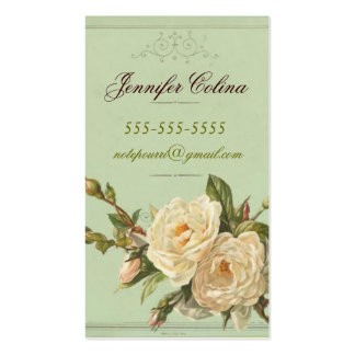 Vintage Inspired Calling Card Double-Sided Standard Business Cards (Pack Of 100)