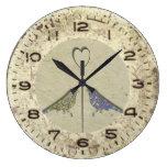 Vintage Inspired Cute Love Birds Wall Clock