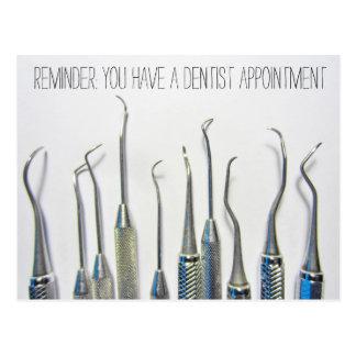 Vintage Inspired Dentist Appointment Reminder Postcard