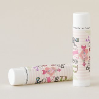 Vintage Inspired Design with You are Loved Quote Lip Balm