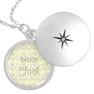 Vintage Inspired Faith Locket
