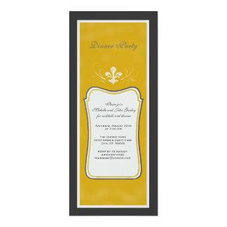 Vintage Inspired Fleur de Lis Party Card