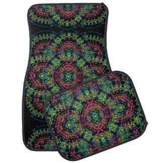 Vintage Inspired Floral Damask Patterned Car Floor Mat