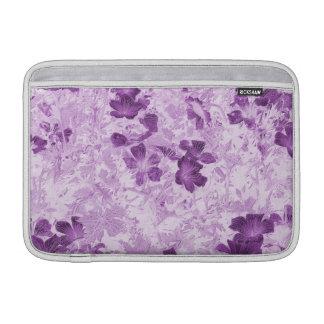 Vintage Inspired Floral Mauve 11 Inch MacBook Sleeves