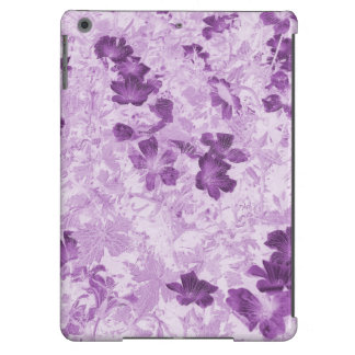 Vintage Inspired Floral Mauve Case For iPad Air