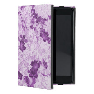 Vintage Inspired Floral Mauve Covers For iPad Mini