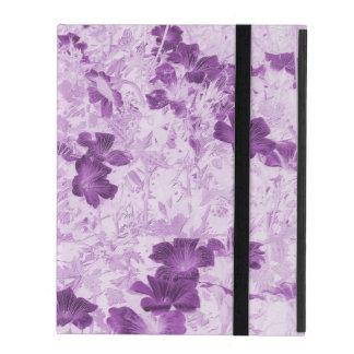 Vintage Inspired Floral Mauve iPad Folio Case