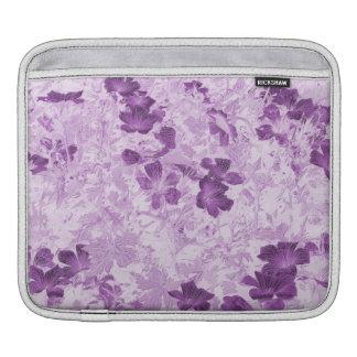 Vintage Inspired Floral Mauve iPad Sleeve