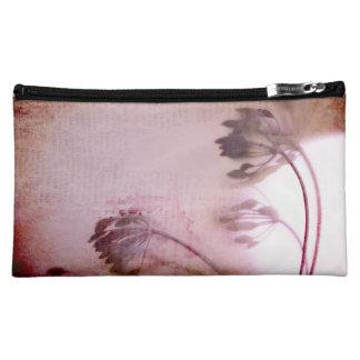 Vintage Inspired Flower medium Cosmetic Bag