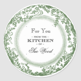 Vintage-Inspired Kitchen Gifts Labels Classic Round Sticker