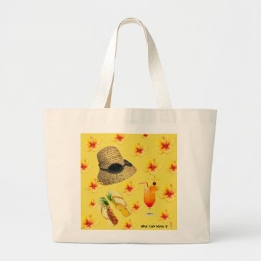 Vintage inspired Large tote beach bag.