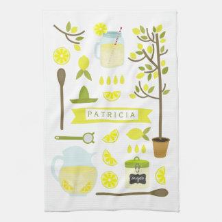 Vintage Inspired Lemonade Pattern Hand Towel