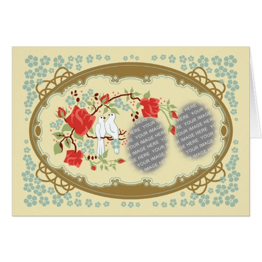 Vintage Inspired Love Customizable Card