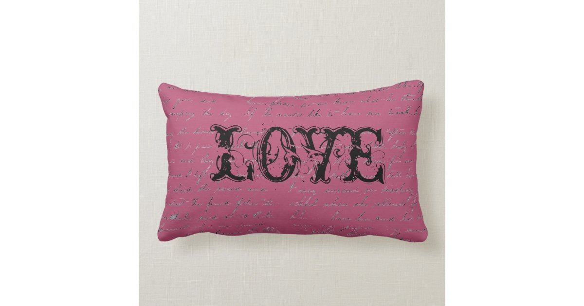 Love Pillow Case From Modern Family : Vintage Inspired Love Pillow Zazzle