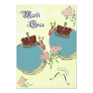 Vintage Inspired Mardi Gras Party Card