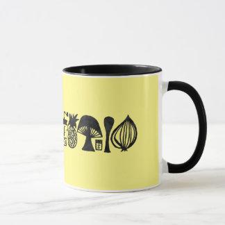 Vintage Inspired Mod Kitchen 11 oz. Ringer Cup