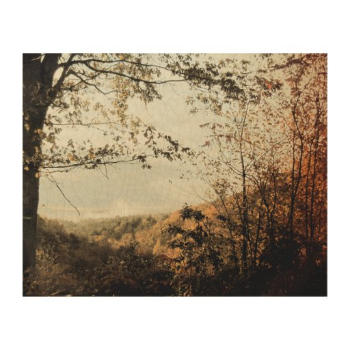 Vintage inspired photo of a valley in western mass wood - Vintage inspired wall art ...