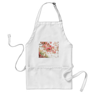 Vintage Inspired Pink and Green Apple Blossoms Apron
