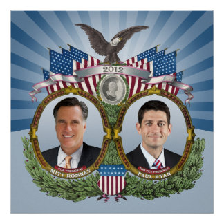 Vintage Inspired Romney Ryan Jugate Poster