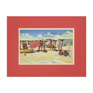 Vintage Inspired Saint Petersburg Florida Beach Canvas Print