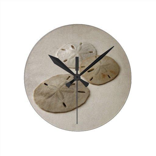 Vintage Inspired Sand Dollars Round Clock
