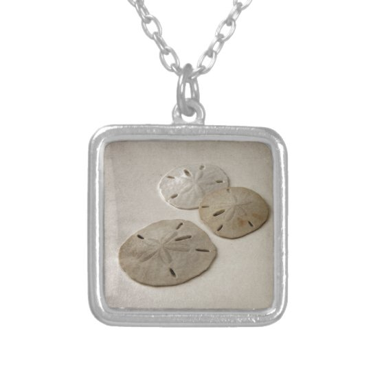 Vintage Inspired Sand Dollars Silver Plated Necklace