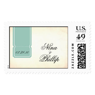 {vintage inspired} save the date postage