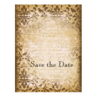 Vintage Inspired Save the Date Postcards