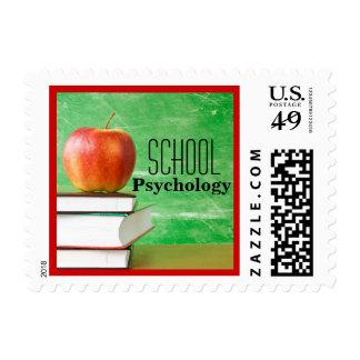 Vintage-Inspired School Psychology Postage Stamp