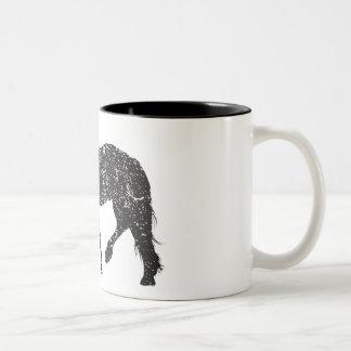 Vintage-inspired Trotting Horse Mug