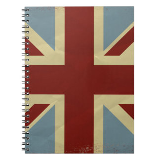 Vintage Inspired Union Jack Flag Design Notebooks