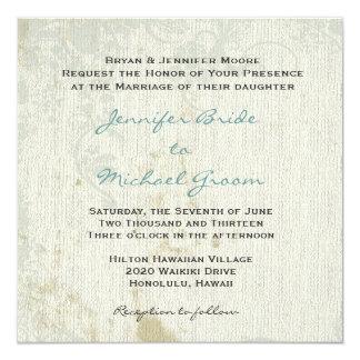 Vintage Inspired Wedding Invitation