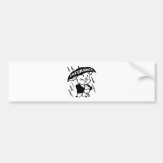 Vintage Insurance Guy Bumper Sticker