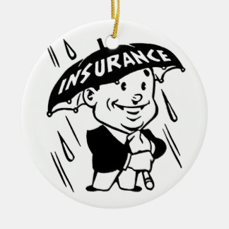Vintage Insurance Guy Ornament