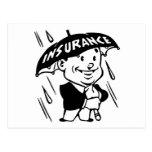 Vintage Insurance Guy Postcard