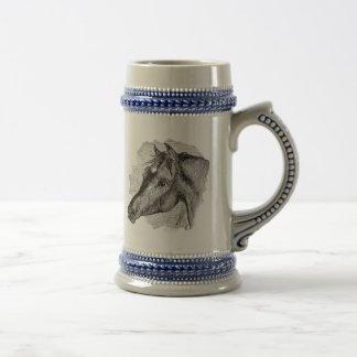 Vintage Intelligent Horse Template Beer Stein