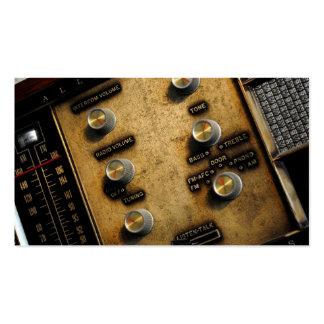 Vintage Intercom/Radio Photo Business Cards