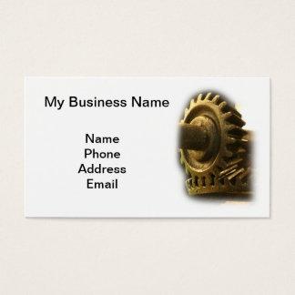 Vintage Interlocking Gears Business Card