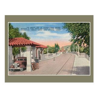 Vintage international bridge and customs El Paso 2 Postcard