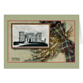 Vintage Inverness castle traditional Scottish Card