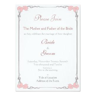 Vintage - invitación del boda de Nouveau del arte