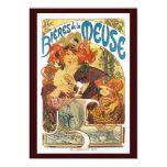 Vintage Invitation:  Bieres de la Meuse by Mucha