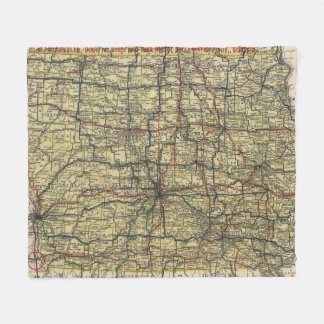 Vintage Iowa Automobile Map (1919) Fleece Blanket