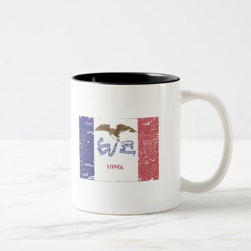 Vintage IOWA Flag Coffee Mug