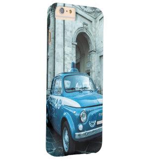 Vintage iphone6 retro del coche policía de Fiat Funda De iPhone 6 Plus Barely There