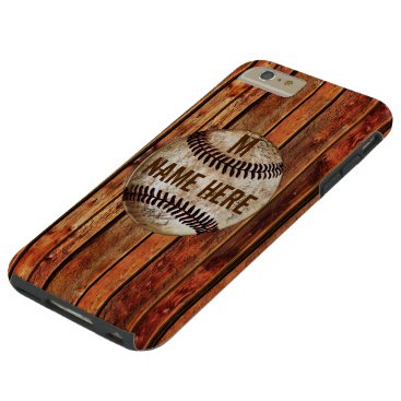 Vintage iPhone 6 PLUS Baseball Case PERSONALIZED