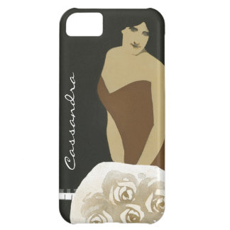 Vintage iPhone Case -- Girl with Flowers