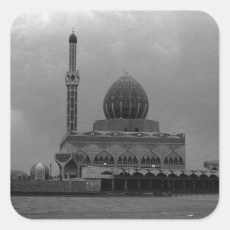 Vintage Iraq Baghdad Buniya Mosque 1970 Square Sticker