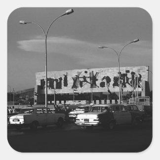 Vintage Iraq Baghdad tahrir square 1970 Square Sticker